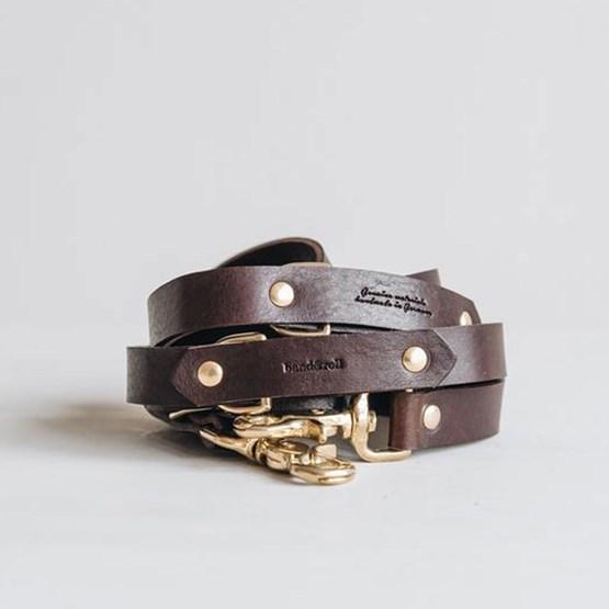 Laisse pour chien en cuir LASSO - brun - Design : band&roll