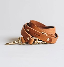 LASSO Dog leather leash - tan