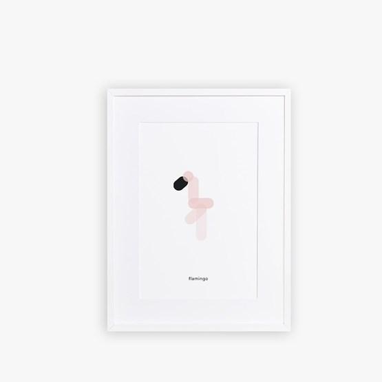Poster FLAMINGO - Design : Maison Deux