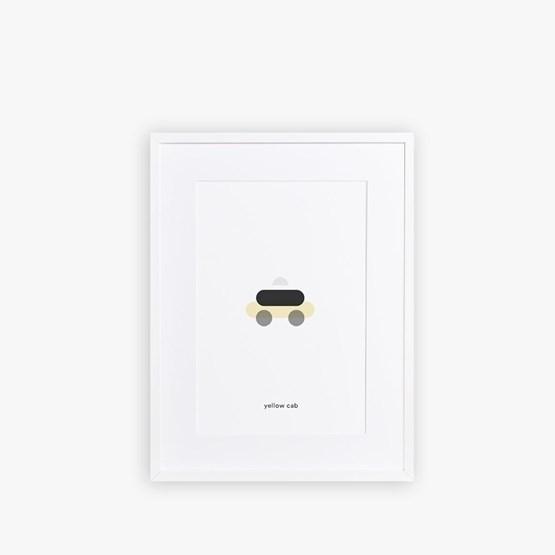 Poster YELLOW CAB - Design : Maison Deux