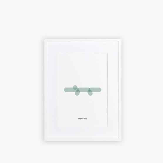 Poster CROCODILE - Design : Maison Deux
