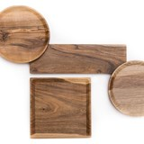 OSTE circle board - walnut wood in warm tones 8