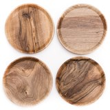 OSTE circle board - walnut wood in warm tones 4
