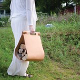 Leather Wood Carrier - black 6
