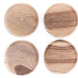 OSTE circle board - walnut wood in cold tones 5