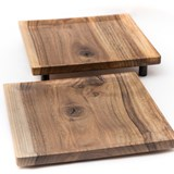 OSTE square board - walnut wood in warm tones 2