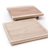 OSTE square board - walnut wood in cold tones 2