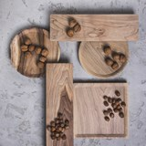 OSTE square board - walnut wood in cold tones 7