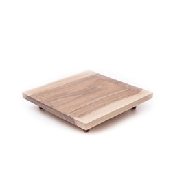 OSTE square board - walnut wood in cold tones