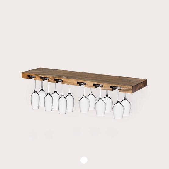 MODEL B12 glass rack - one piece walnut wood - Design : TU LAS