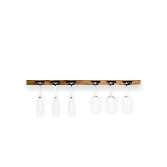 Wine Glass Rack in Walnut Wood - Design : TU LAS