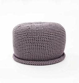 Pouf crocheté CAP - graphite