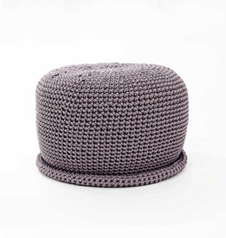 CAP Crocheted pouf - grafit