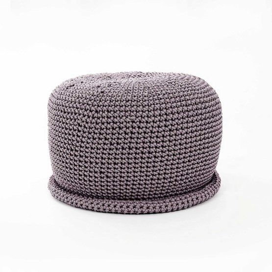 CAP Crocheted pouf - grafit - Design : SanFates