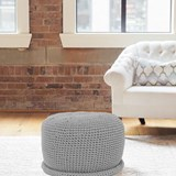 CAP Crocheted pouf - grafit 2