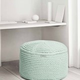 FA Crocheted pouf - grafit 4