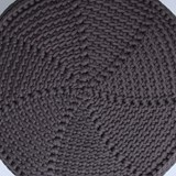 FA Crocheted pouf - grafit 3