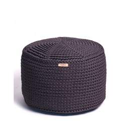 FA Crocheted pouf - grafit