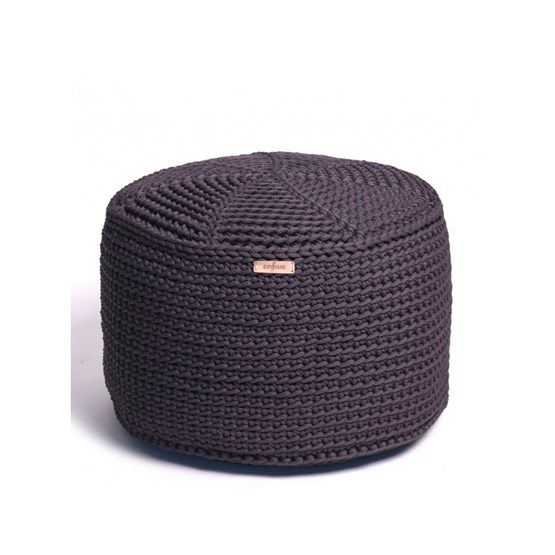 FA Crocheted pouf - grafit - Design : SanFates