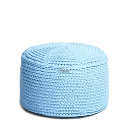 FA Crocheted pouf - blue