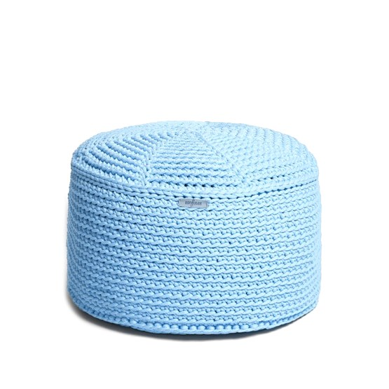 FA Crocheted pouf - blue - Design : SanFates