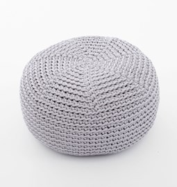 DO Crocheted pouf - grey