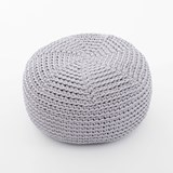 DO Crocheted pouf - grey 2