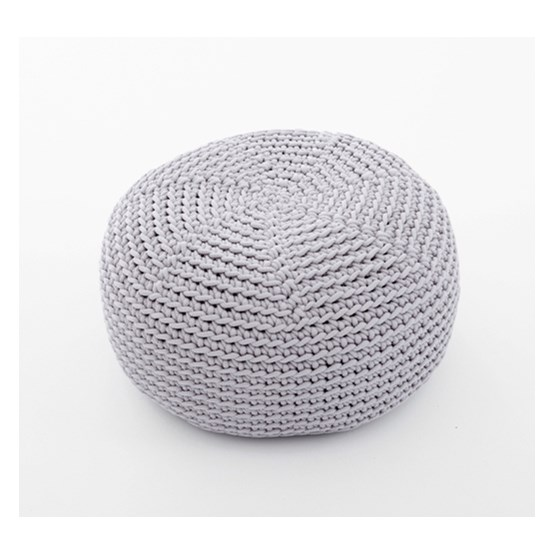 DO Crocheted pouf - grey - Design : SanFates