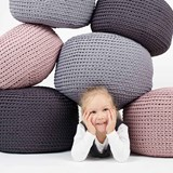 DO Crocheted pouf - grey 4