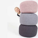 DO Crocheted pouf - grey 3