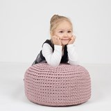 DO Crocheted pouf - grey 5