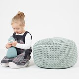 DO Crocheted pouf - mint 2