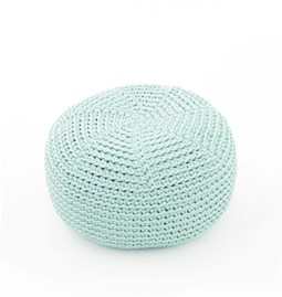 Pouf crocheté DO- mint