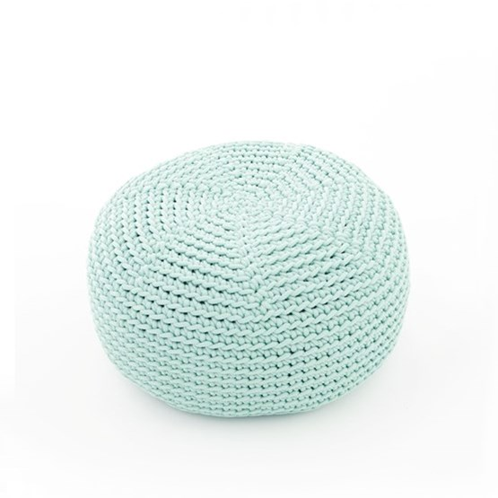 DO Crocheted pouf - mint - Design : SanFates