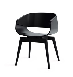 Fauteuil 4th ARMCHAIR COLOR - noir