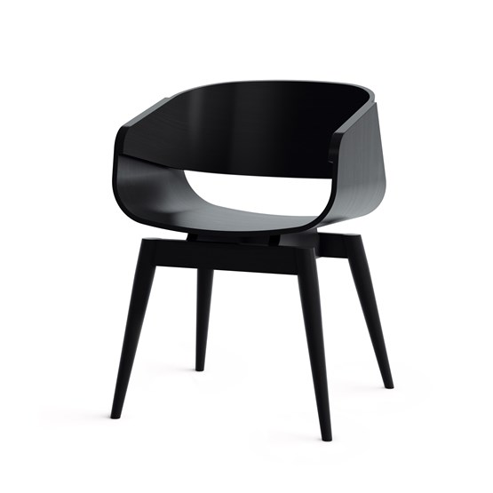 Fauteuil 4th ARMCHAIR COLOR - noir - Design : Almost