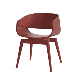 Fauteuil 4th ARMCHAIR COLOR - rouge