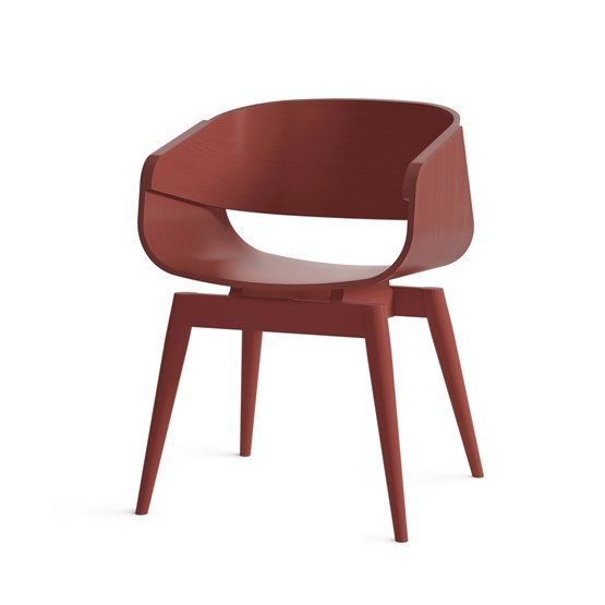 Fauteuil 4th ARMCHAIR COLOR - rouge - Design : Almost