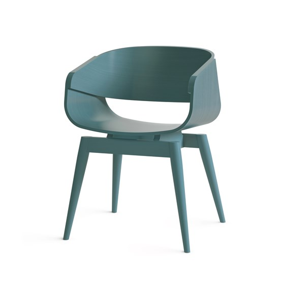 Fauteuil 4th ARMCHAIR COLOR - bleu - Design : Almost