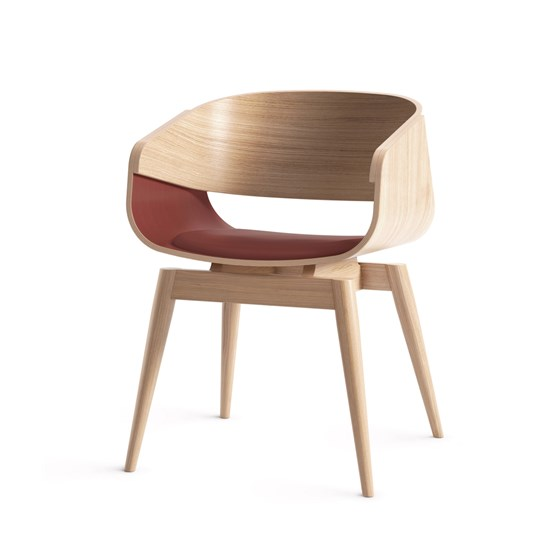Fauteuil 4th ARMCHAIR SOFT - rouge - Design : Almost