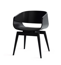Fauteuil 4th ARMCHAIR COLOR SOFT - noir