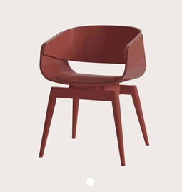 4th ARMCHAIR COLOR SOFT - red