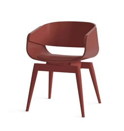 Fauteuil 4th ARMCHAIR COLOR SOFT - rouge