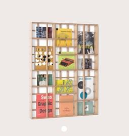 THIRD Modular wall shelf - 4 shaped