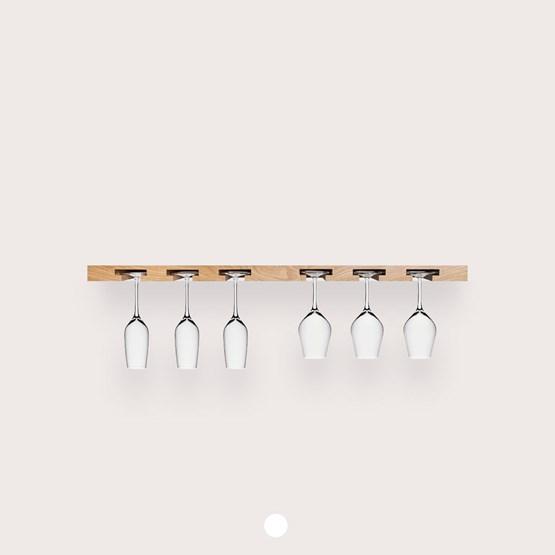 MODEL B12 glass rack - one piece oak wood - Design : TU LAS