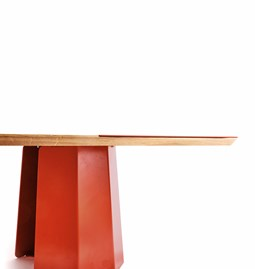 Table basse JACQUES - Rouge corail