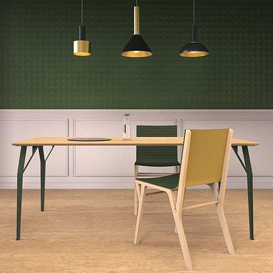 Table RICHARD Sr. - Vert oxyde - Design : Bonome