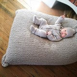Knitted woolen bean bag - grey 2