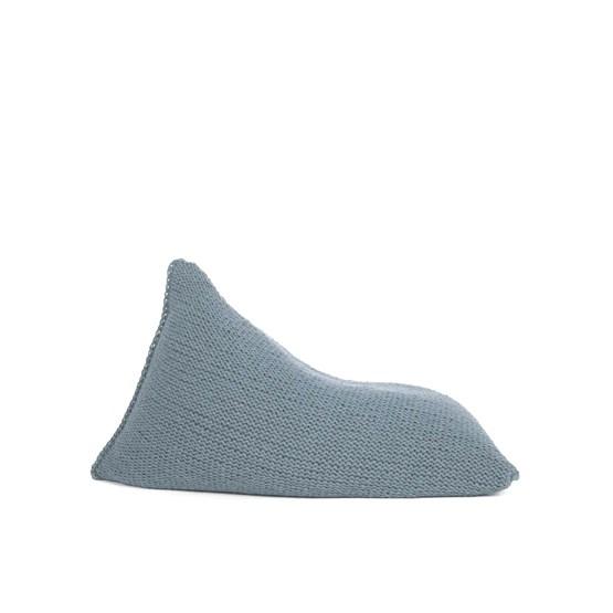 Pouf poire en laine tricotée - gris - Design : SanFates