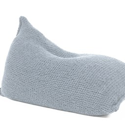 Knitted woolen bean bag - grey
